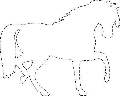 La bolsa de papel: Siluetas de Caballos para Imprimir y Recortar ...