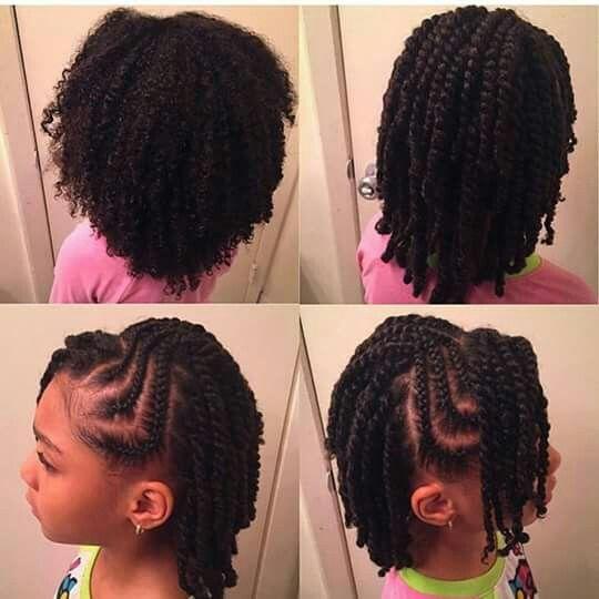 Vanille avec cheveux naturel