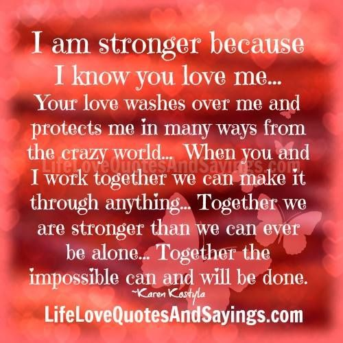 Pin by Mitzi Osborn on Quote | Strong love quotes, Together