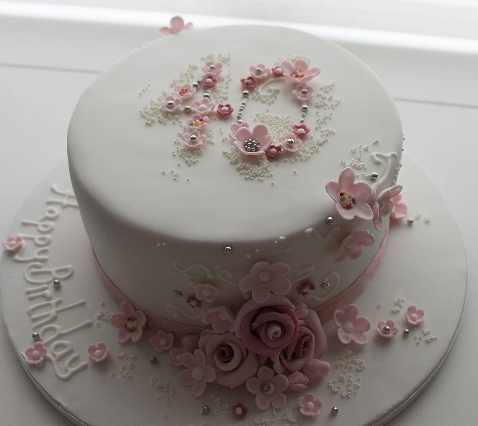 40 Floral Birthday Cake Tortendekoration Torten