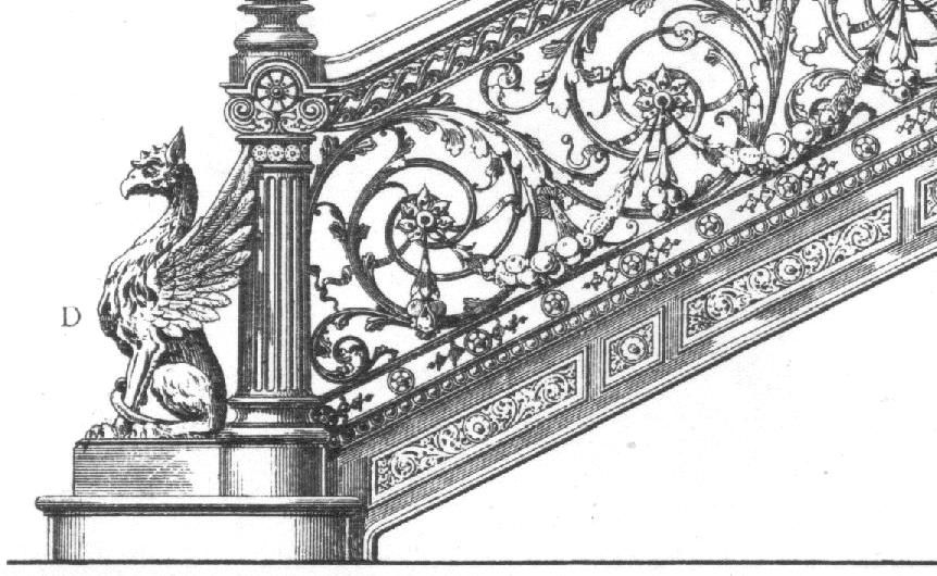 Cast Iron : Balustrade, Baluster, Newel Post In The Century Cast Iron Was  An Important Component Of Staircase, Whether Whole In Whole Or Just The The  Newel ...