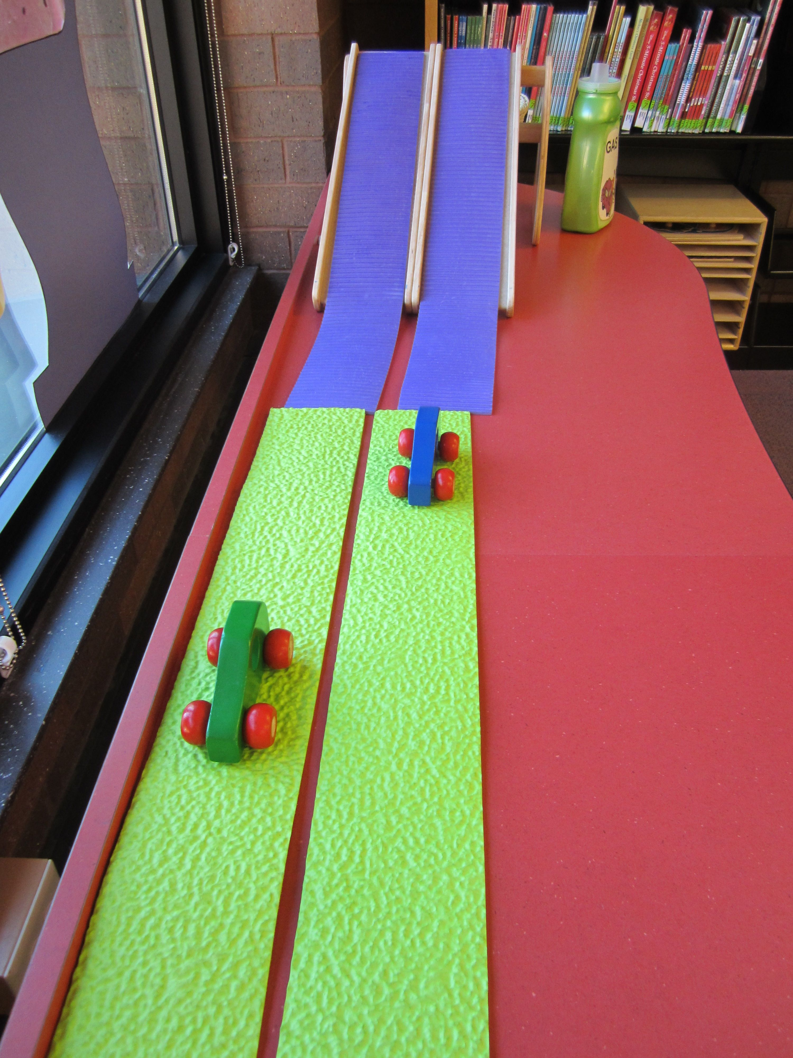 Race Down The Race And Roll Ramp In The Reading Road Trip Play And
