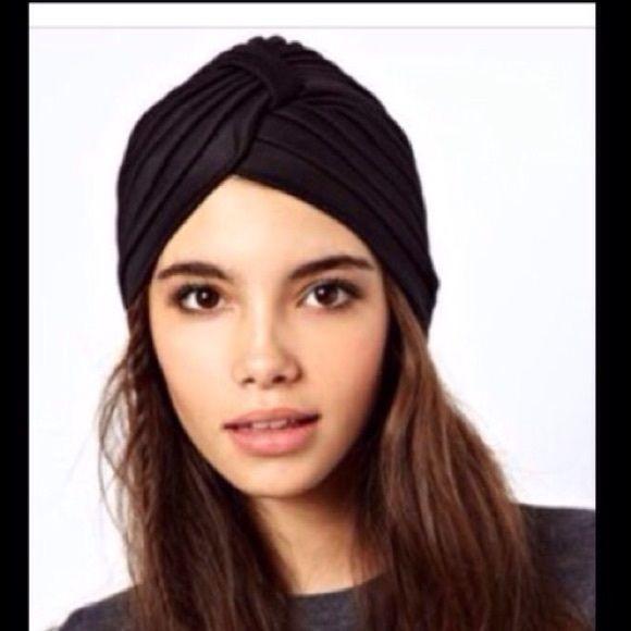 SATIN TURBAN BEANIE in BROWN Satin turban beanie in white. Accessories Hair Accessories