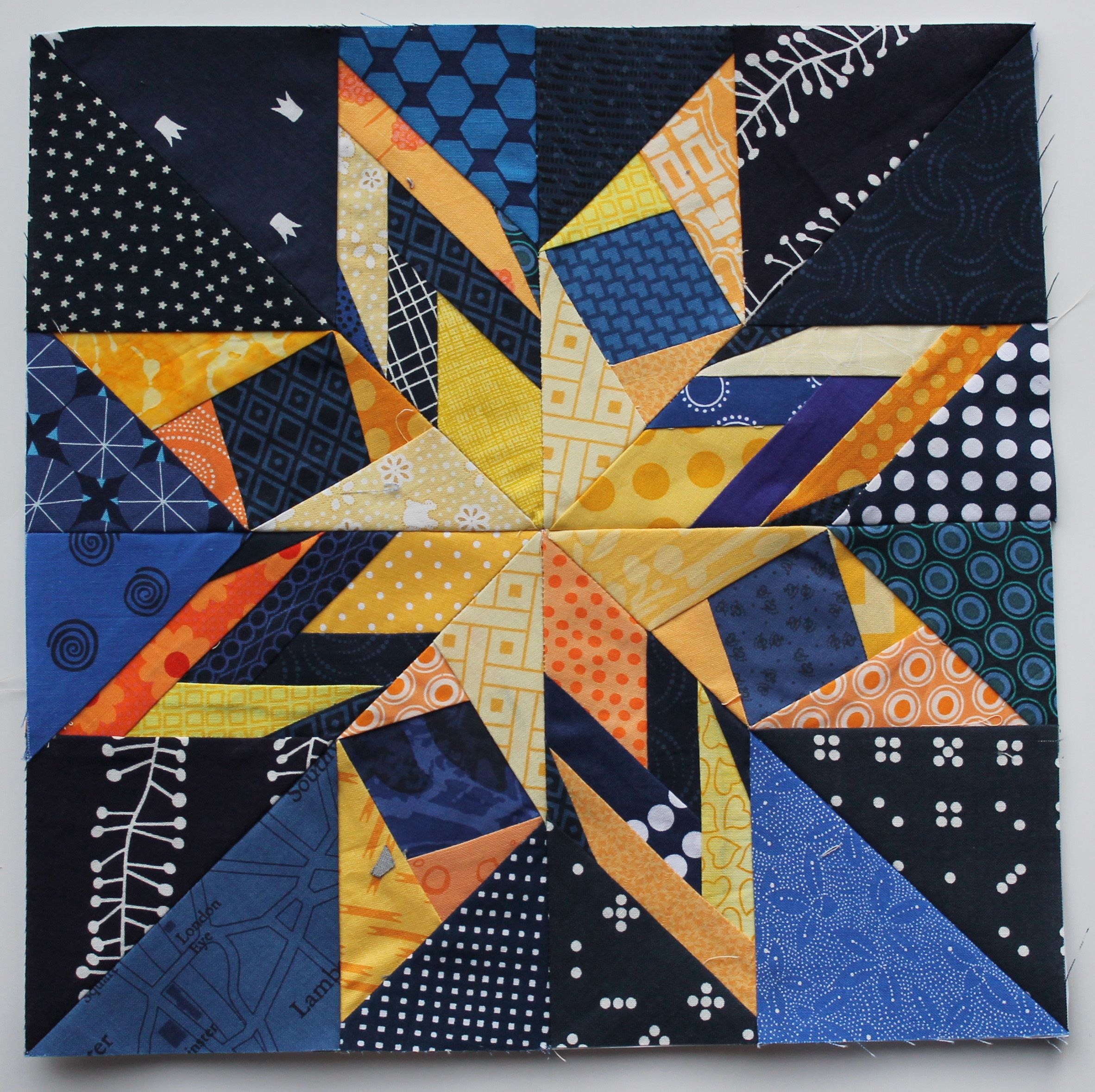 Starrynightmashupblockg sewingyarn pinterest