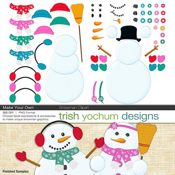 snowman clipart snowman digital pngs winter christmas holiday rh pinterest co uk how to make your own clipart in word how to make your own clip art to sell