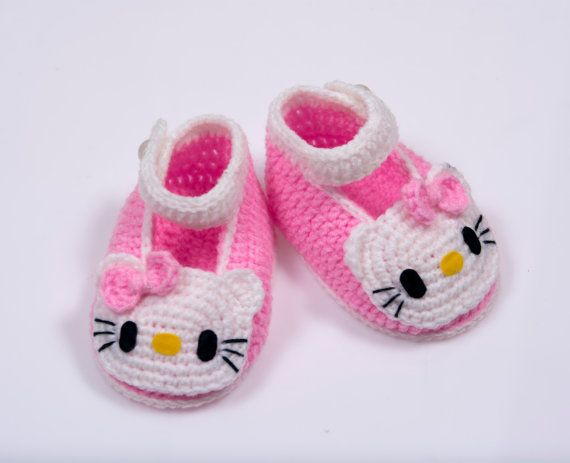 705b4ddb Cute Crochet baby girl shoes. on Etsy, $11.89 | Things for Waverly ...