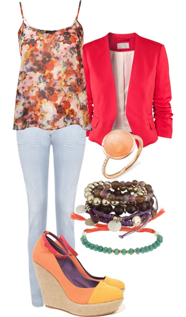 """""""Colorful Floral."""" by amk109716 on Polyvore"""