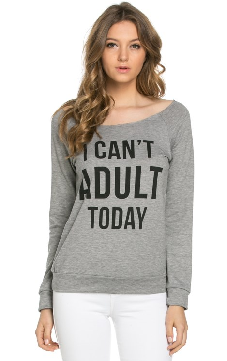 I Can't Adult Today Raglan (Ladies)