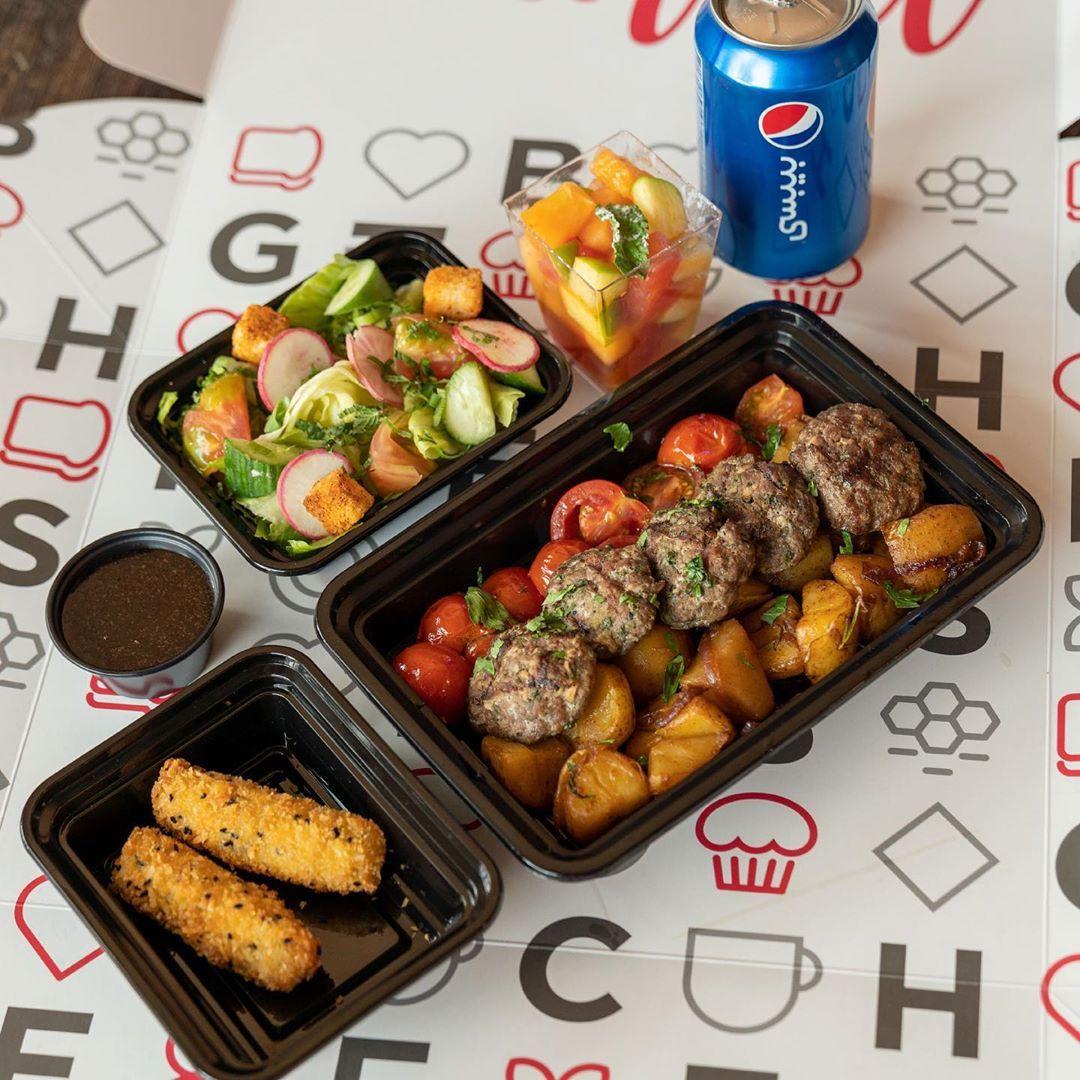 فطور غدا أو عشاء عروض البيغ بوكس من بيغ شفز ما لهامثيل يمكنم الطلب من خلال تطبيق هنقرستيشن شيفز كريم ناو المنيو في الهايلايت Br In 2020 Food Sausage Meat