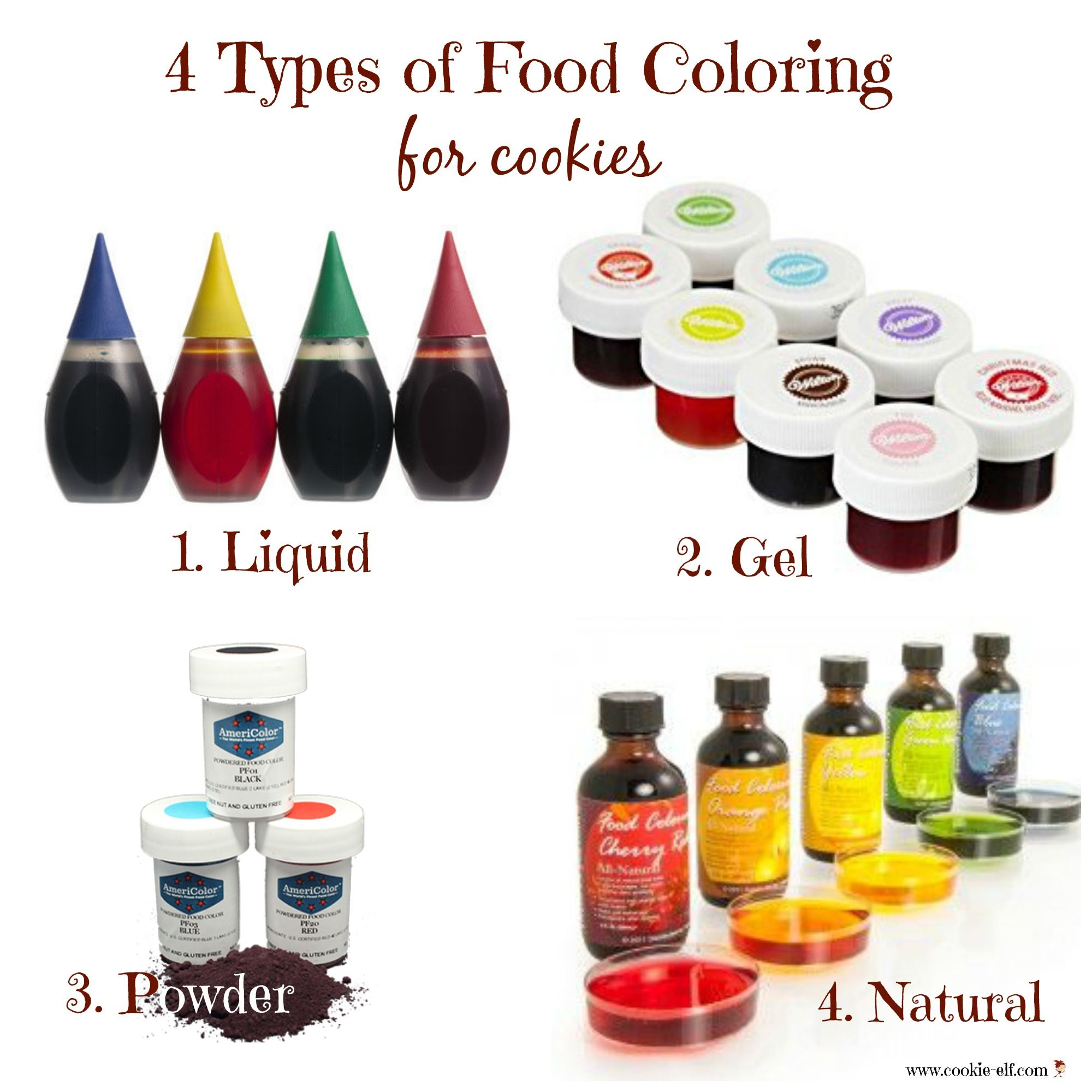 4 types of food coloring to use when making cookies