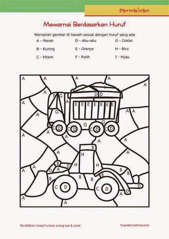 Permainan Anak Paud Balita Tk Mewarnai Sambil Belajar Membaca