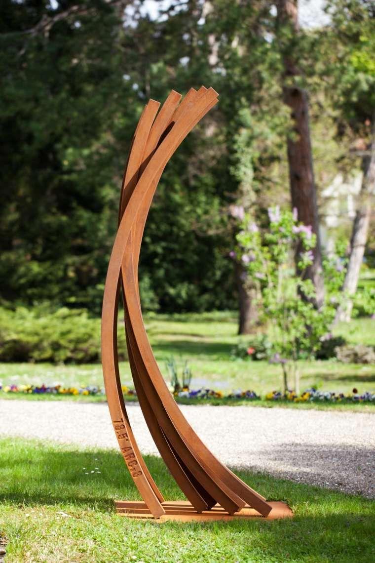 jardin avec statue design en fer | Corten steel, Steel ...