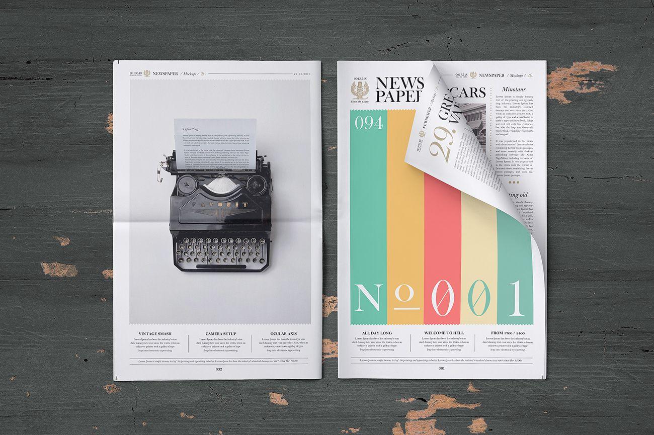 Free Newspaper Mockup | Pune Design | #free #photoshop #mockup #psd ...