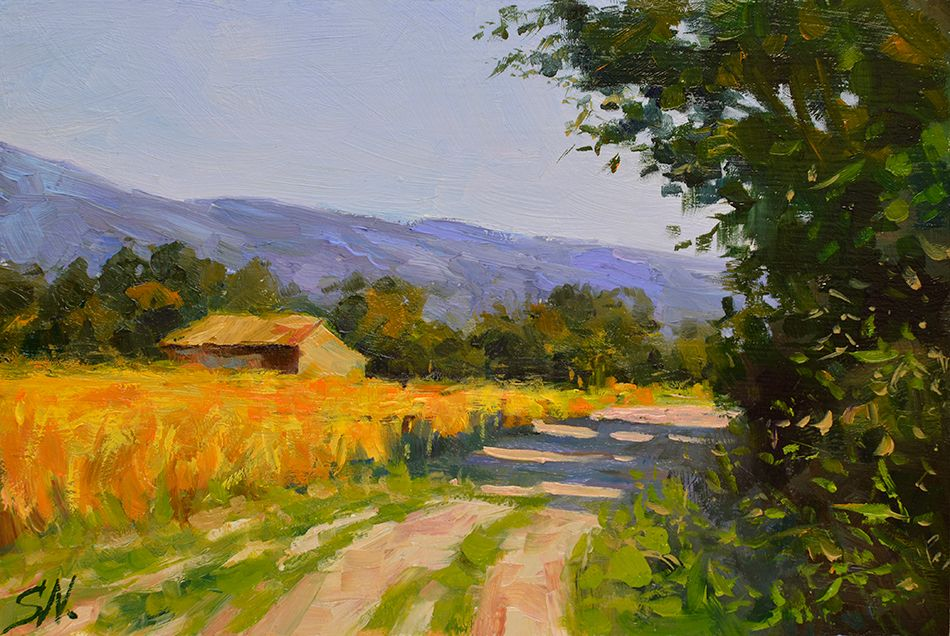 Stone Farmhouse French Countryside Impressionist Style Landscape Oil Painting Countryside Paintings Landscape Artist Oil Painting Landscape