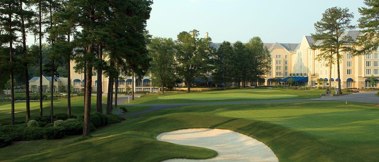 The course at Washington Duke Inn & Golf Club, in Durham