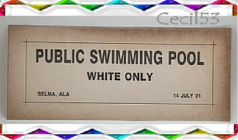 Black segregation sign public swimming pool selma al