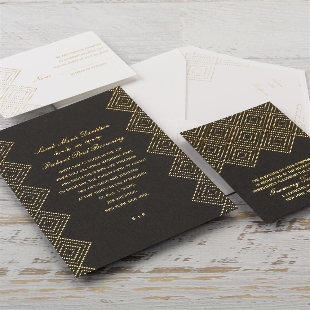 Modern Deco - Foil Invitation | Weddings and Wedding