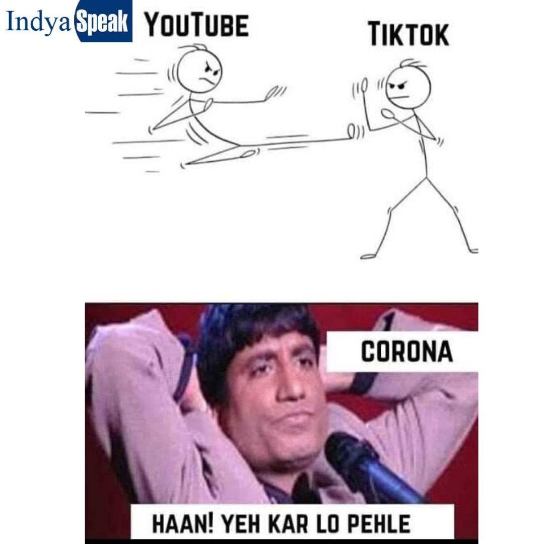 Youtube Vs Tiktok And Corona In 2020 Fun Quotes Funny Friends Quotes Funny Cute Funny Quotes