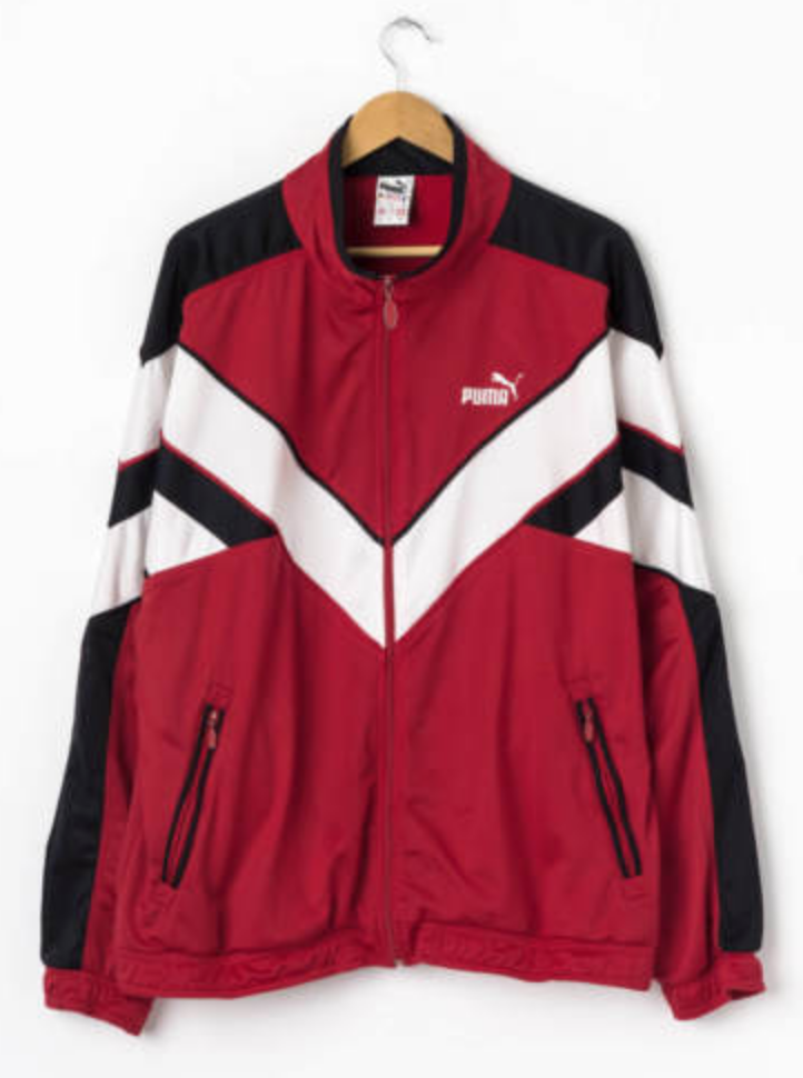 858873ded9ab FOR SALE  Vintage PUMA Track Jacket in Red Size XL Tracksuit Training Top  Retro 80s Sports