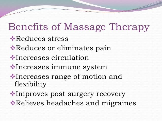 Check out the following Benefits of Massage Therapy wwwbalanced - massage therapy resume samples