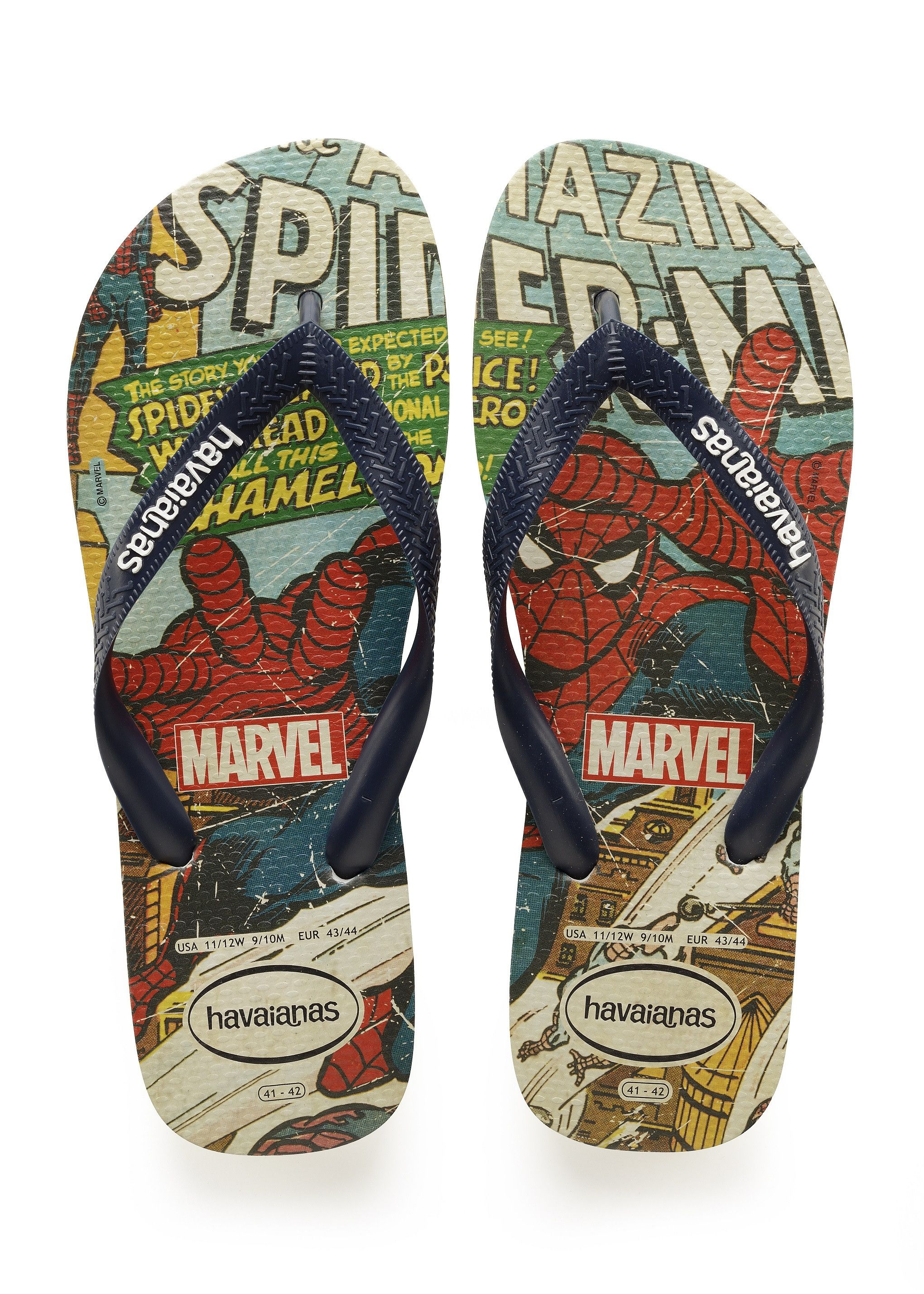 a1f8dee2a897b9 Havaianas Top Marvel Spiderman Sandal Beige Navy Blue Price From  £19.36