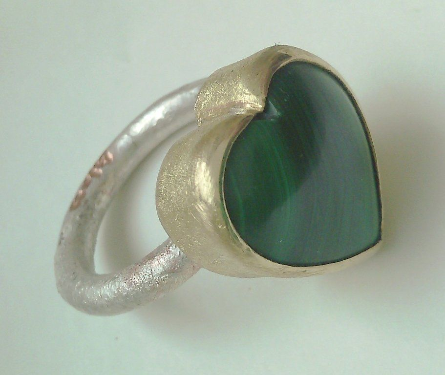 Glass Design Autorskie Malachitowe Serce 6239291391 Oficjalne Archiwum Allegro Gemstone Rings Gemstones Jewelry