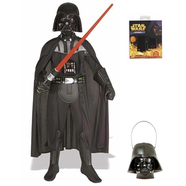 Darth Vader Costume Kids Deluxe  Star Wars Fancy Dress