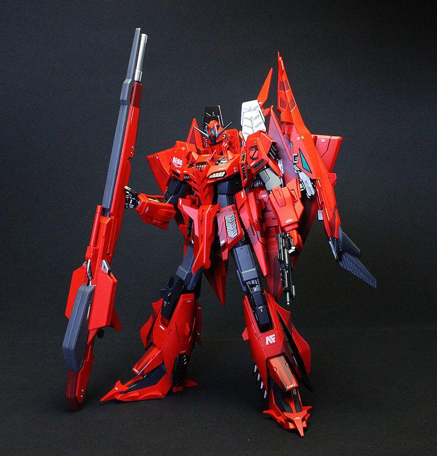GUNDAM GUY: P-Bandai Exclusive: MG 1/100 Z Gundam Unit 3 P2 Red Zeta - Painted Build