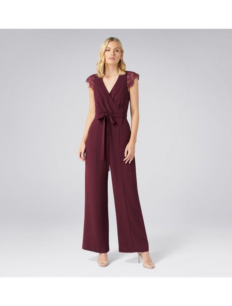 7205a143fbb Georgie Wide Leg Jumpsuit Cherry Lips - Womens Fashion
