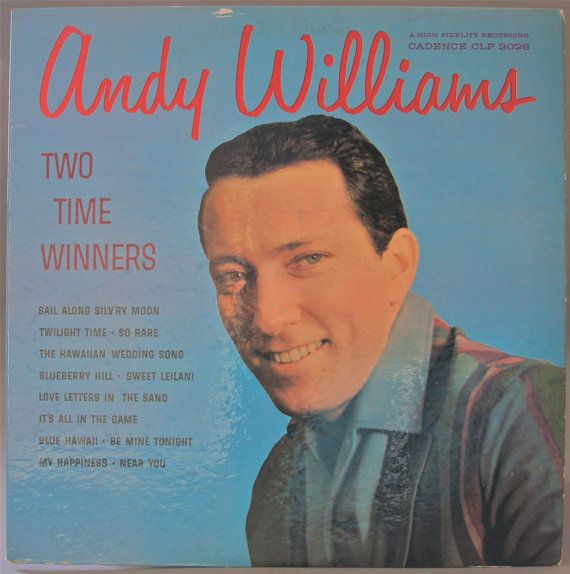 Andy Williams Two Time Winners 1959 Original Vinyl Etsy In 2020 Andy Williams Singing Jobs Sand Writing