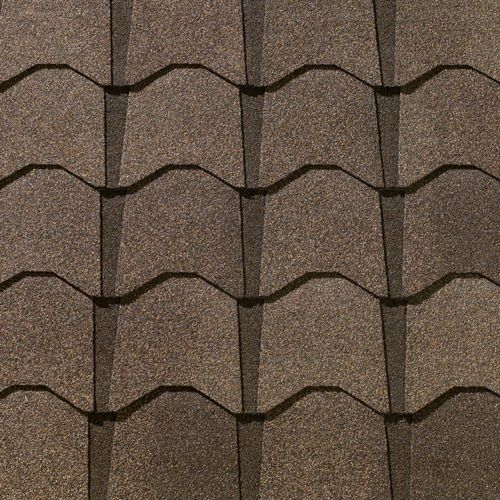 Monticello Brown Gaf Designer Roof Shingles Swatch