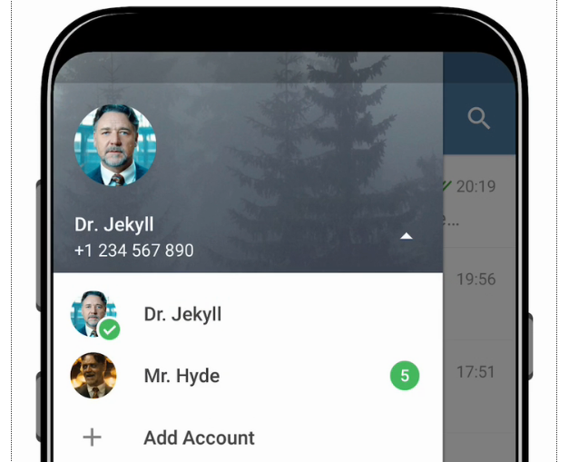 New Telegram update brings multiple accounts support on