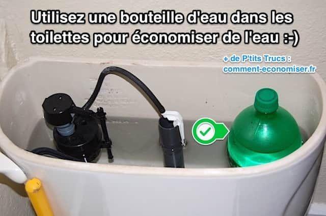 Utilisez Une Bouteille D Eau Dans Les Toilettes Pour Economiser De L Eau Chasse D Eau Bouteille Eau Economiser L Eau
