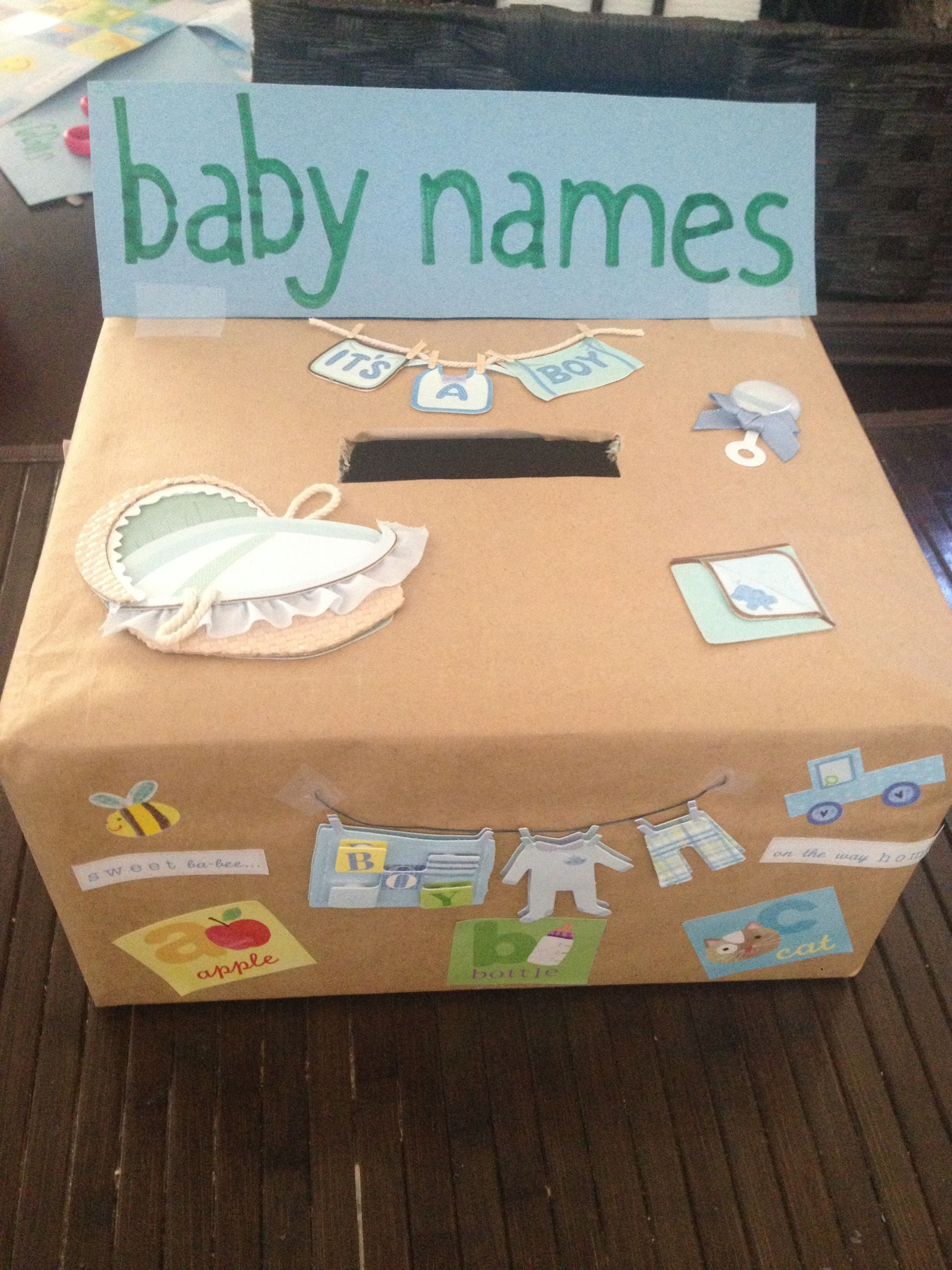 baby name suggestion box crafts pinterest suggestion box