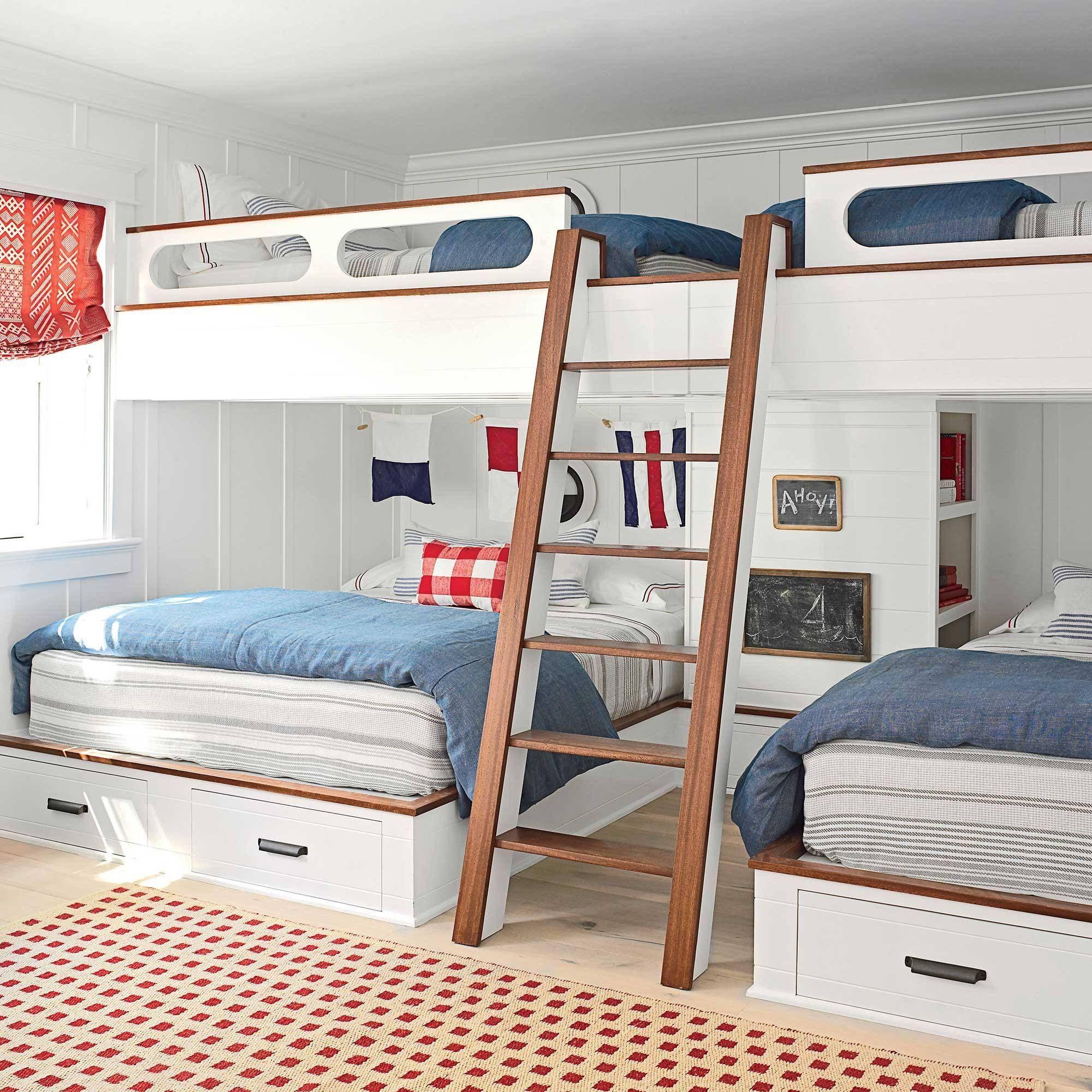Queen size loft bed with stairs  Pin by Gianduja Vandeuren on Home  Pinterest  Bunk rooms Bedrooms