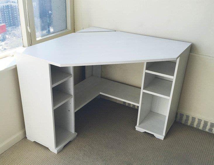 Ikea Borgsjo Corner Desk Diy Corner Desk Corner Desk White Corner Desk