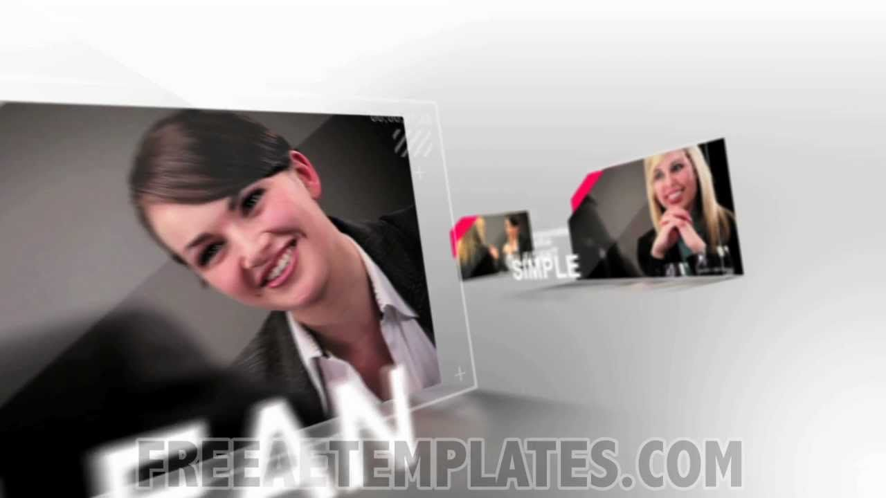 Smooth Glass Free After Effects Slideshow Template Special