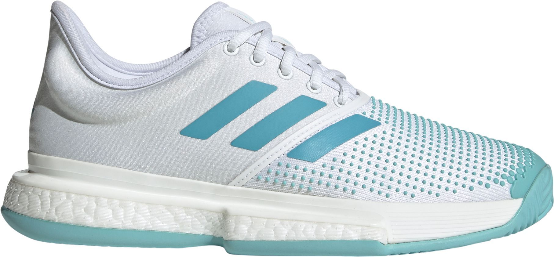 adidas SoleCourt Boost x Parley Men/'s New Blue Spirit White Tennis Shoes CG6339