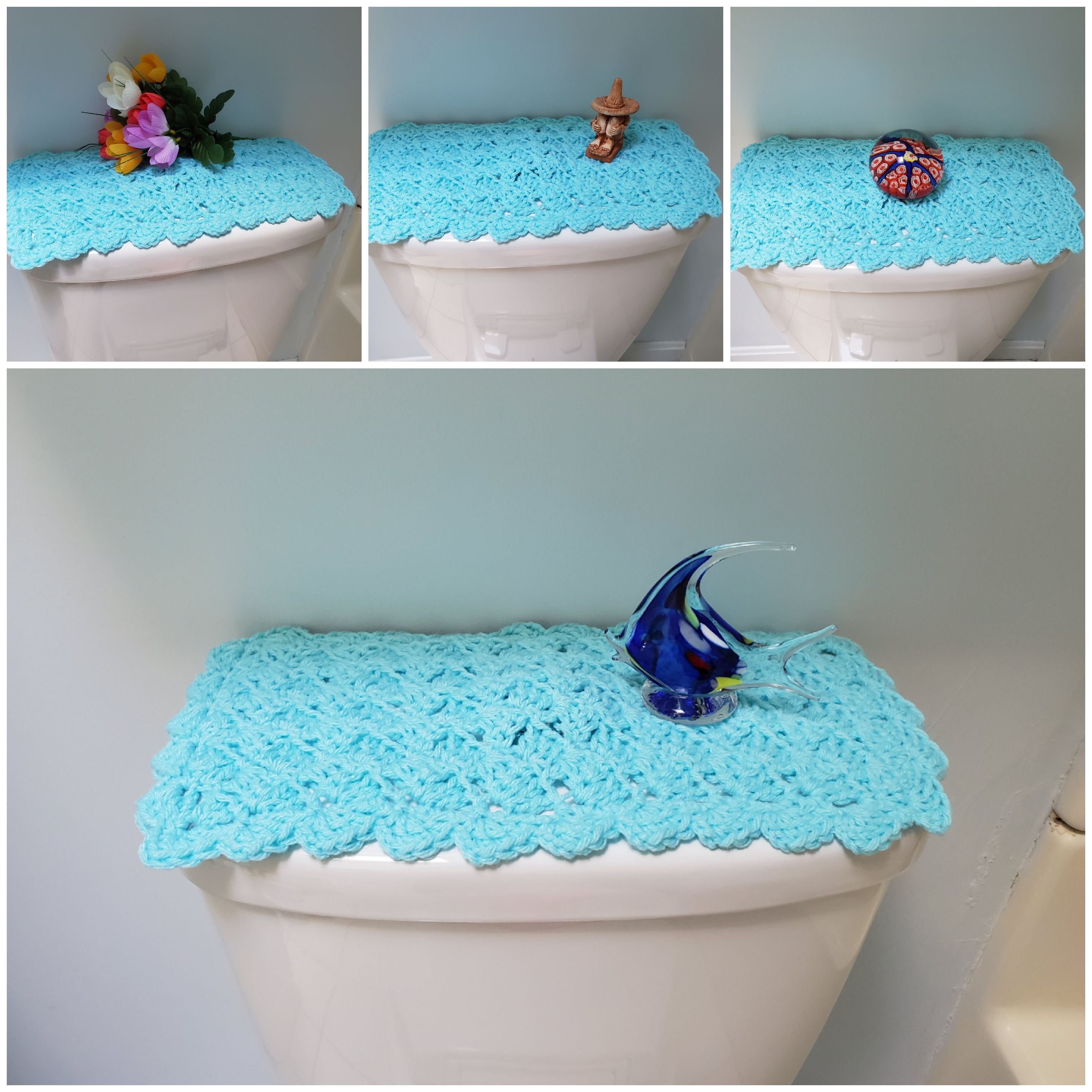Toilet Tank Topper Crochet Toilet Tank Topper Bathroom Decor Cool Blue Ttt1o Crafts To Make And Sell Diy Craft Projects Toilet Tank