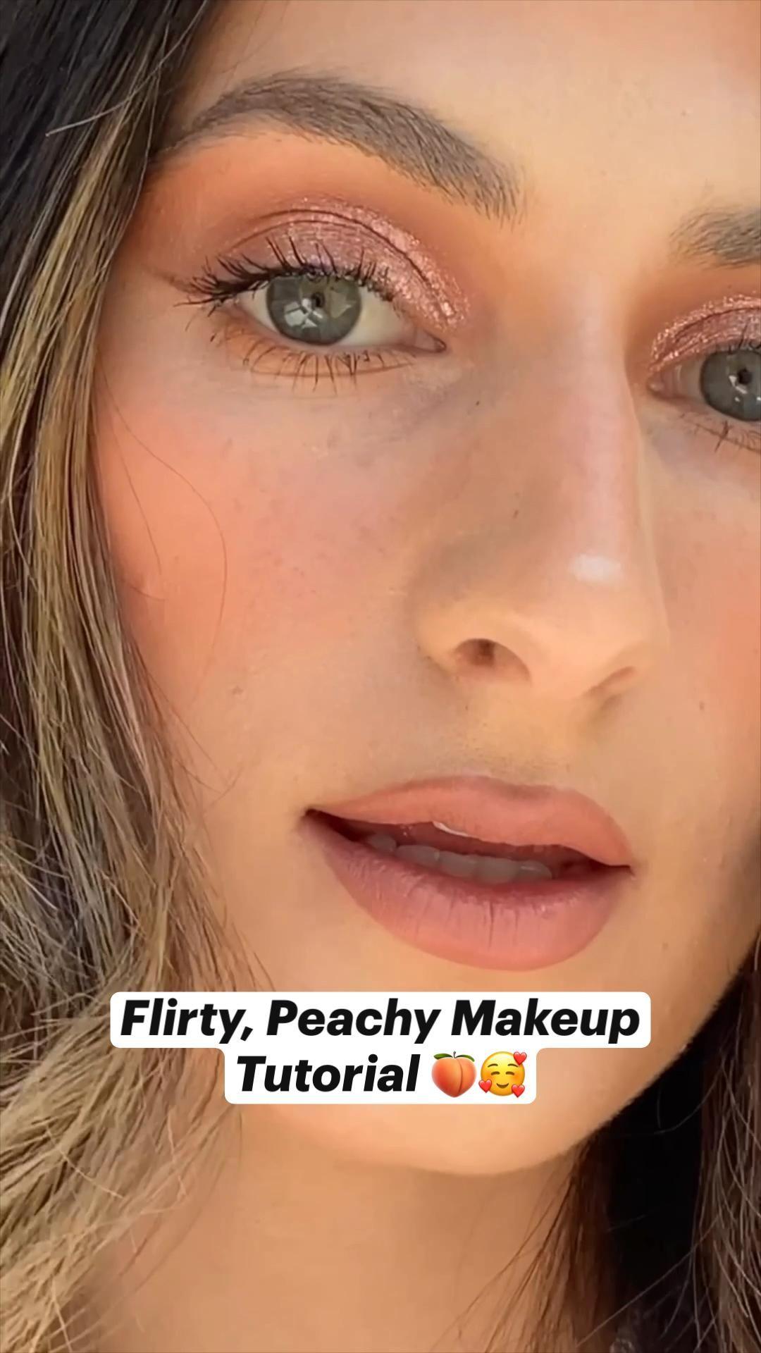 Flirty, Peachy Makeup Tutorial 🍑🥰