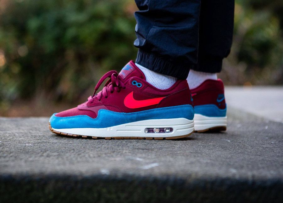 Nike Air Max 1 'Teal Burgundy' Red Orbit Green Abyss (2018 ...