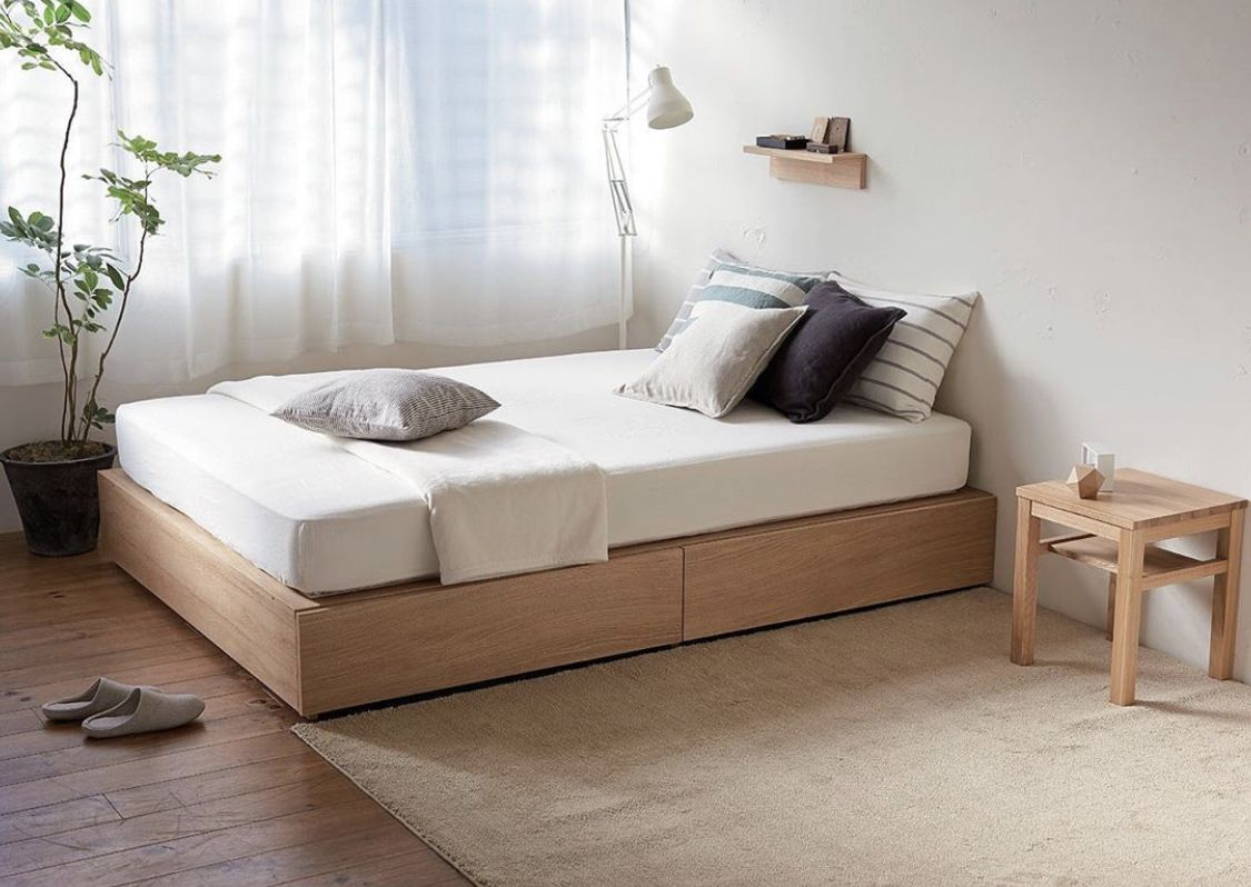 Pin by Alliya on Bed frame with storage Minimalist room