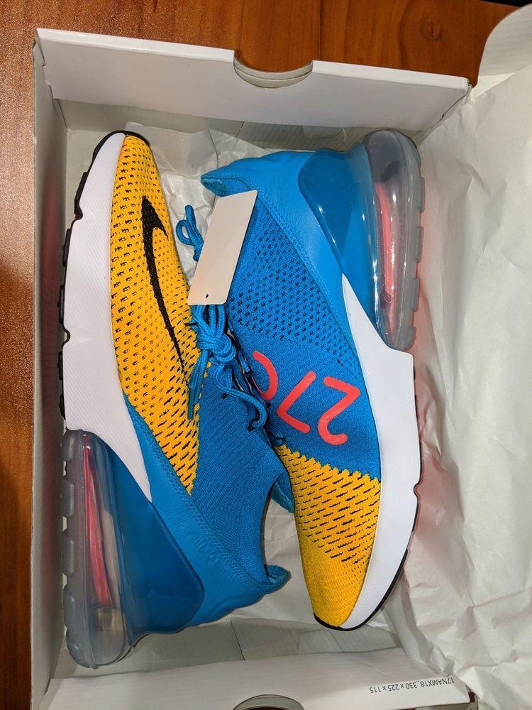 8.5 Men's Nike Air Max 270 Flyknit Ao1023 800 Laser Orange