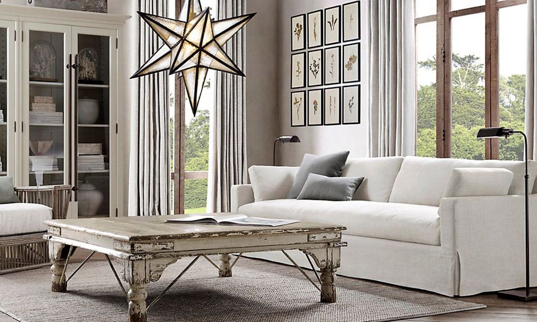 Restoration Hardware | Restoration Hardware RH Living Room White Furniture
