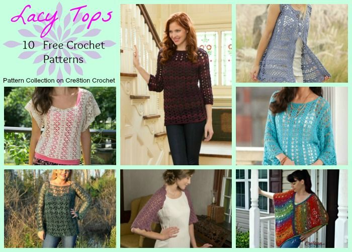 Lacy Tops Pattern Collection Womens Clothes Pinterest Crochet