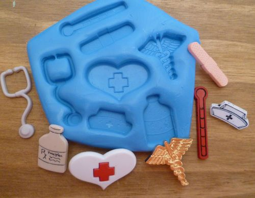 Large Doctor Nurse Medical Silicone Mould For Cake Toppers Etc By Emlems Ebay
