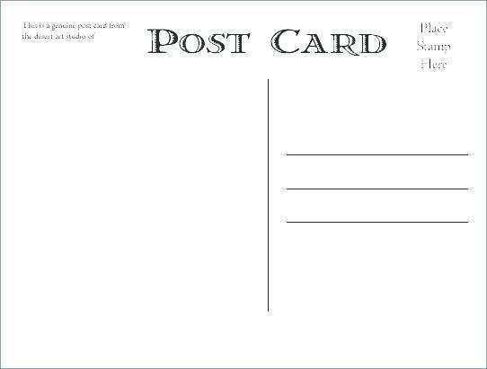 Back Of Postcard Template 4x6 In 2021 Postcard Template Postcard Template Free Printable Postcards