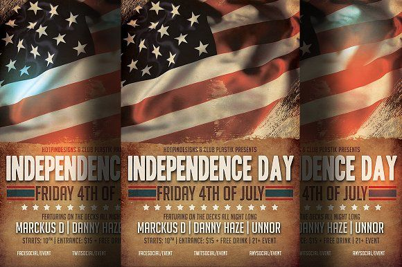 Independence Day Flyer Template Flyer Template Party Flyer