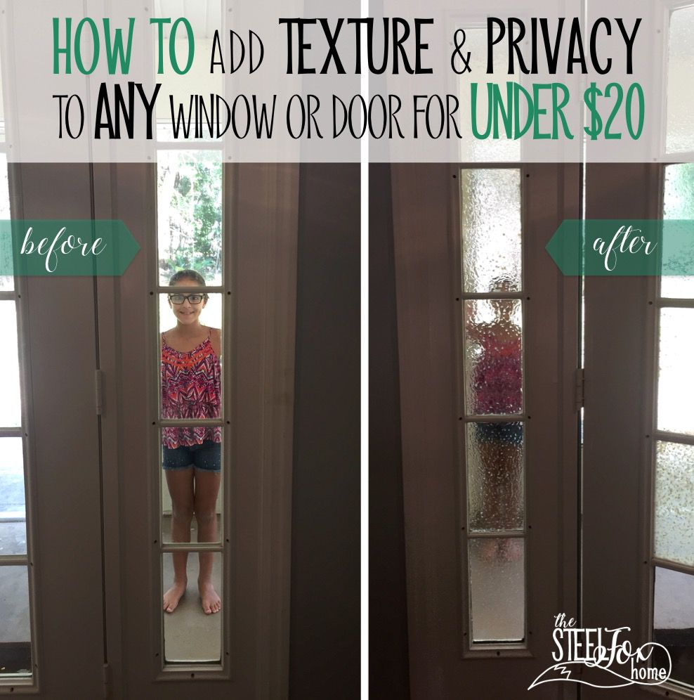 How to Add Privacy and Texture to Any Window or Door for Less Than ...