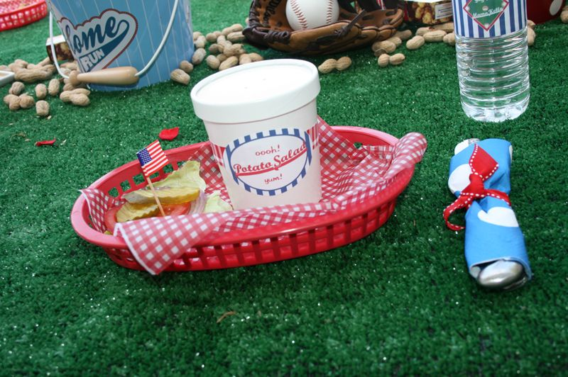 Love The Astro Turf As A Table Cloth And The Concession Stand Baskets.